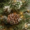 7ft National Tree Company Glittering Pine Pencil Slim Hinged Tree Clear Lights & PowerConnect - image 2 of 2