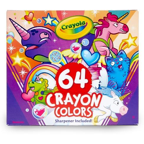 Crayola 64ct Unicreatures Crayon Box And 24 Super Sized Unicorn ...