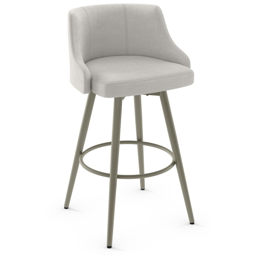 Duncan 28 Swivel Metal Counter Stool - Gray - Amisco