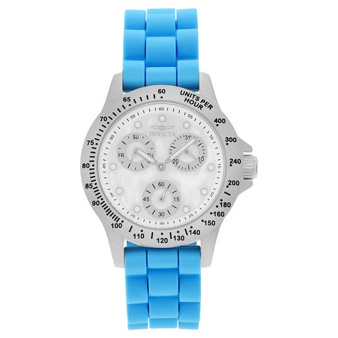 Women's Invicta 21970 Speedway Quartz Chronograph White Dial Strap Watch - Blue - image 1 of 3