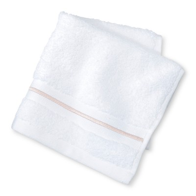 Microcotton Spa Stripe Accent Washcloth Peach Stripe - Fieldcrest®