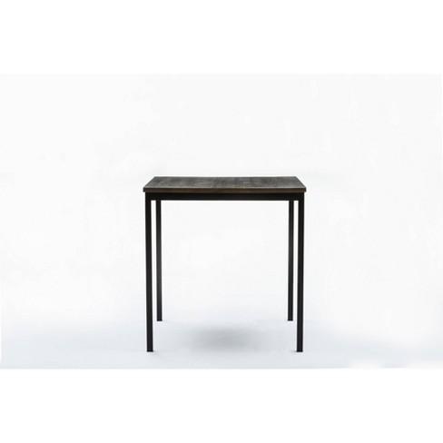 Americano Bar Height Table Walnut Finish Distressed Black - Boraam - image 1 of 7