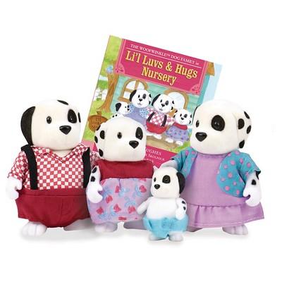 Li'l Woodzeez Miniature Animal Figurine Set - Woofwinkle Dog Family