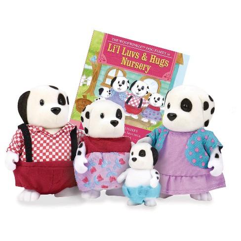 Li'l Woodzeez Miniature Animal Figurine Set - Woofwinkle Dog Family - image 1 of 3