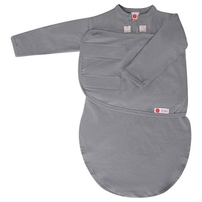 embé Starter Long Sleeve Swaddle with Fold Over Mitts - Slate Gray