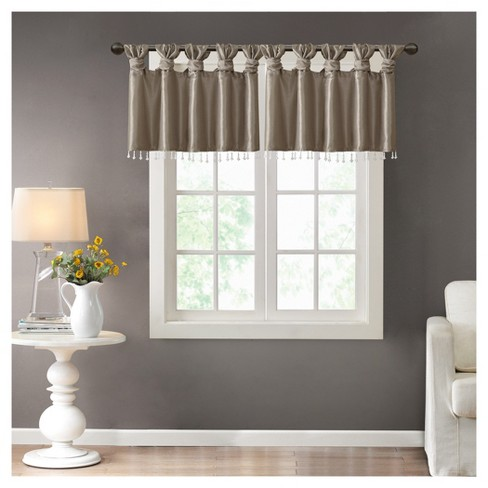 "Lillian Twisted Tab Valance With Beads (50x26"") - image 1 of 6"
