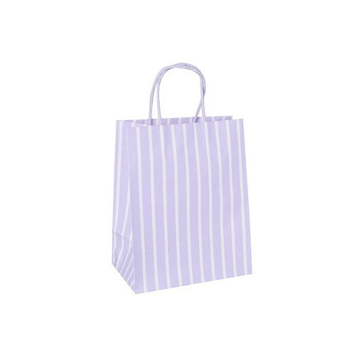 Stripe Cub Gift Bags Pastel Lavender - Spritz™ - image 1 of 1