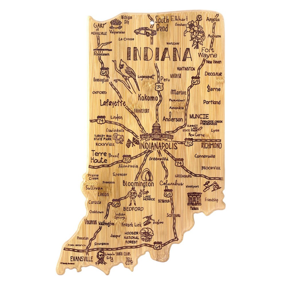 Compare Totally Bamboo Destination Indiana Serving and Cutting Board