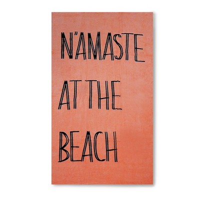 Namaste at the Beach Beach Towel Peach Sorbet