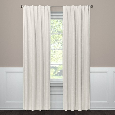 108 X50 Edalene Blackout Curtain Panel Almond Cream Threshold Target