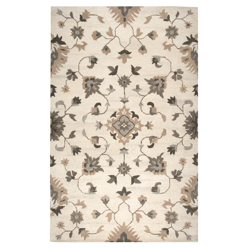 Oriental/Floral Rug - Beige - (10'X13') - Rizzy Home