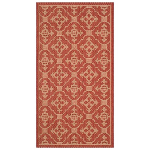 Outdoor Patio Rug Red