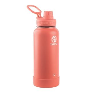 Takeya 32oz Actives Insulated Stainless Steel Water Bottle with Spout Lid - Coral