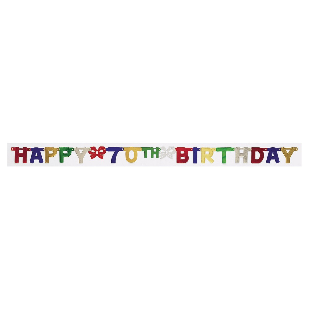 70th Birthday Party Banner, Multi-Colored