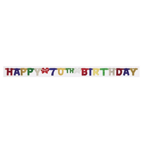 70th Birthday Party Banner - image 1 of 1