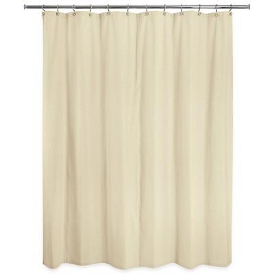 Washed Cotton Shower Curtain Beige - Allure Home Creation