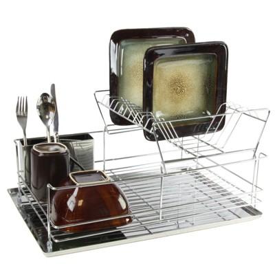 Mega Chef Stainless Iron Shelf Dish Rack
