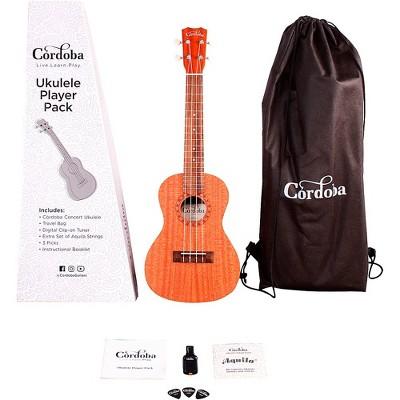 Cordoba Ukulele Player Pack - Concert Ukulele Natural