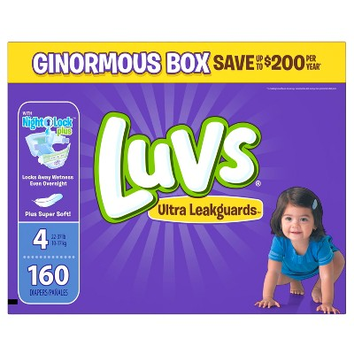 Luvs Diapers, Ginormous Pack - Size 4 (160 ct)