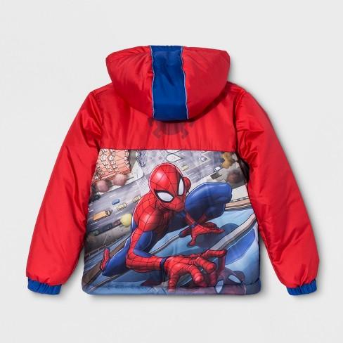 1c96dc32d Boys  Spider-Man Puffer Jacket - Red 4   Target
