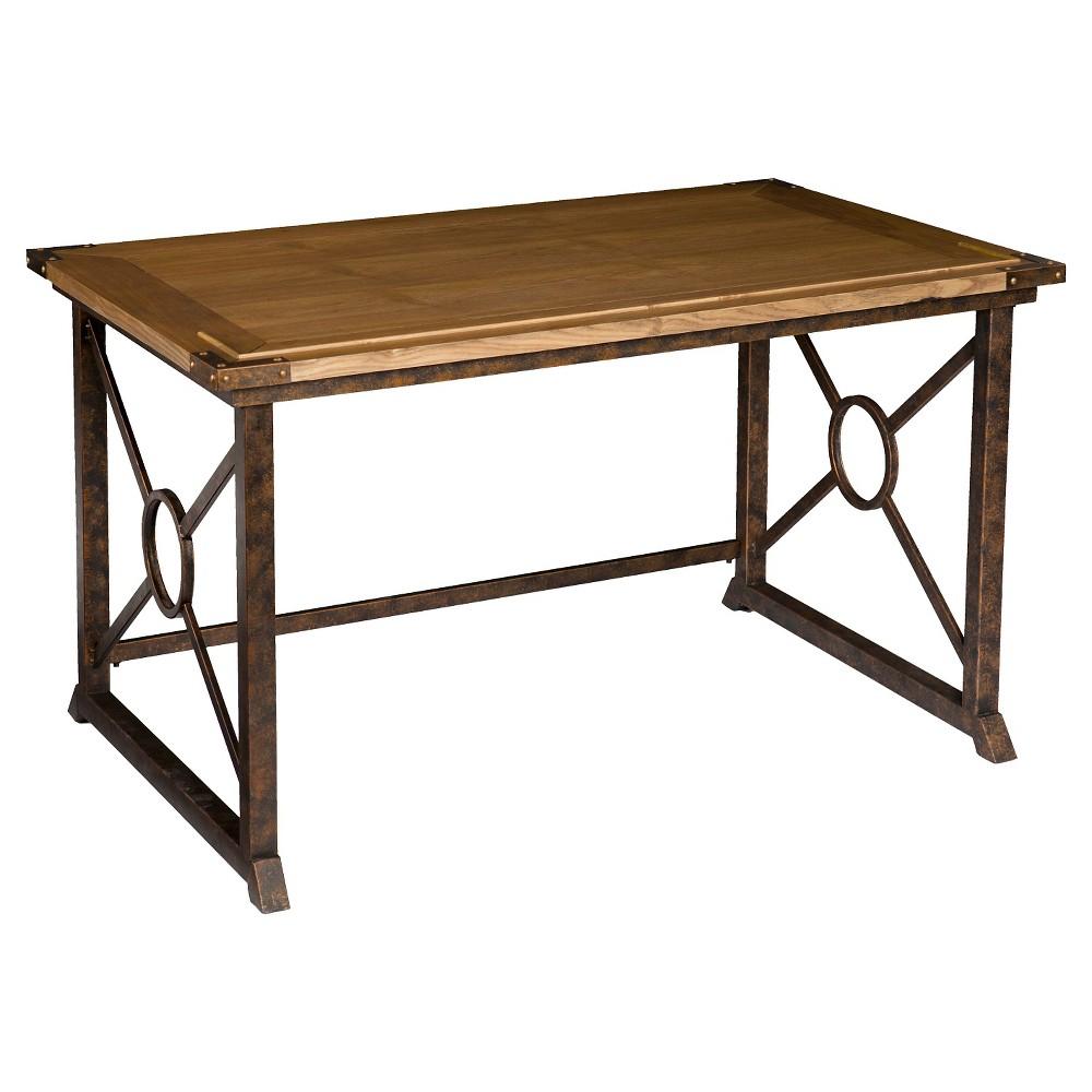 Tilt Top Drafting Table Oak - Aiden Lane, Brown
