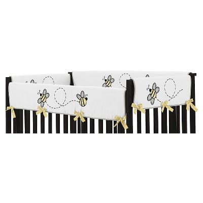 Sweet Jojo Designs Honey Bee Long Crib Rail Guard Cover - Yellow