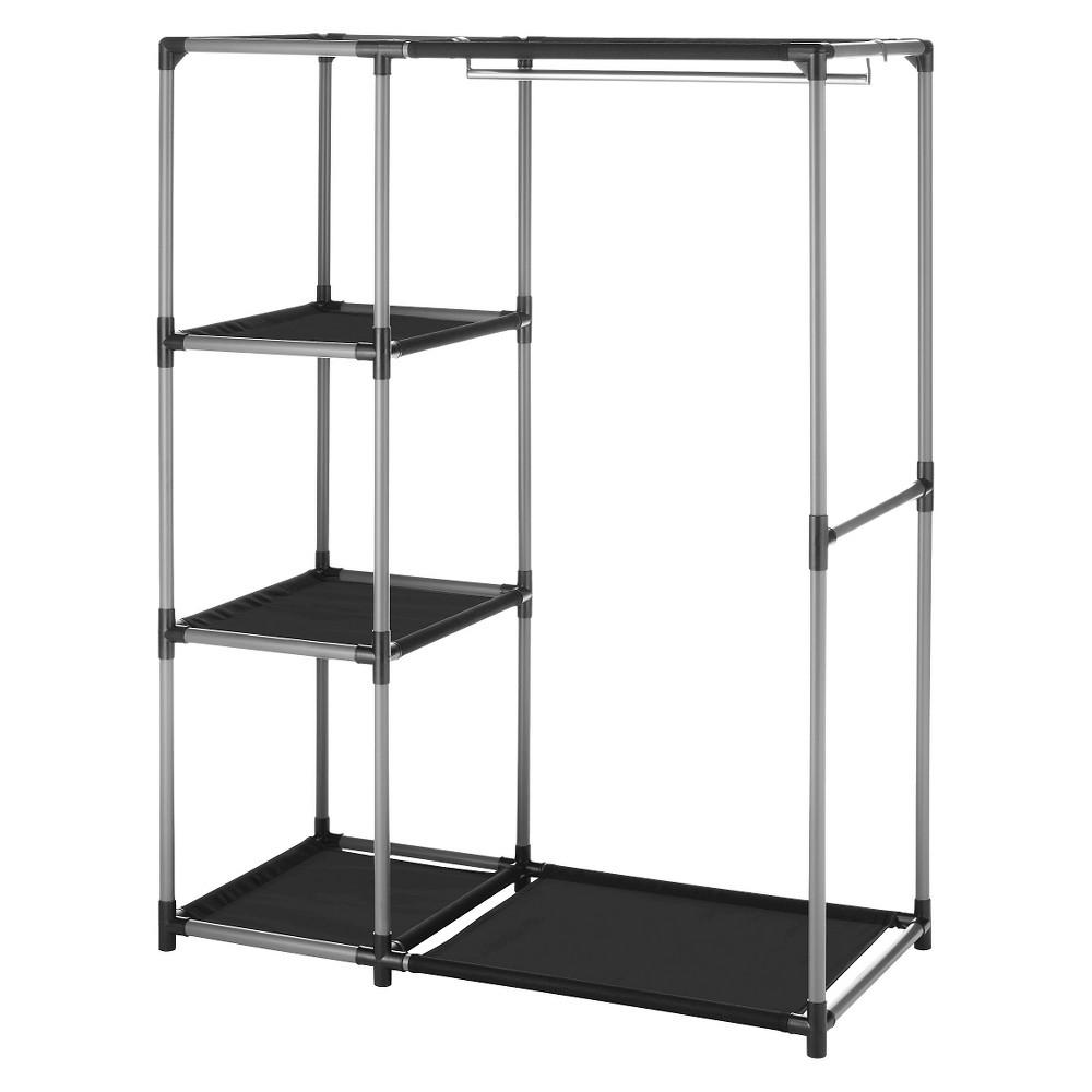Whitmor Mfg Co Spacemaker Garment Rack And Shelves - Black