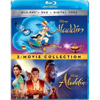 Aladdin Animated + Live Action: 2-Movie Collection (Blu-ray + DVD + Digital)