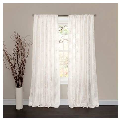 "Samantha Window Curtain White (84""x50"") - Lush Décor - image 1 of 1"