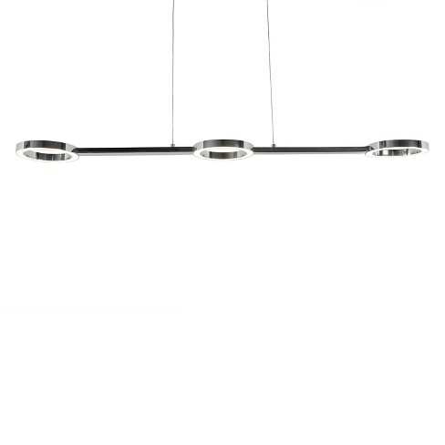 Halo LED Linear Pendant - Polished Chrome - image 1 of 5