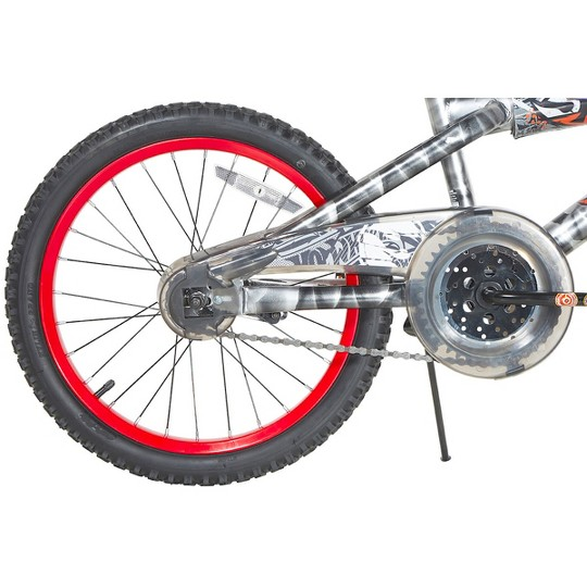 """""""Hot Wheels 18"""""""" Kids' Bike - Light Silver/Red, Kids Unisex, Red Silver"""" image number null"""