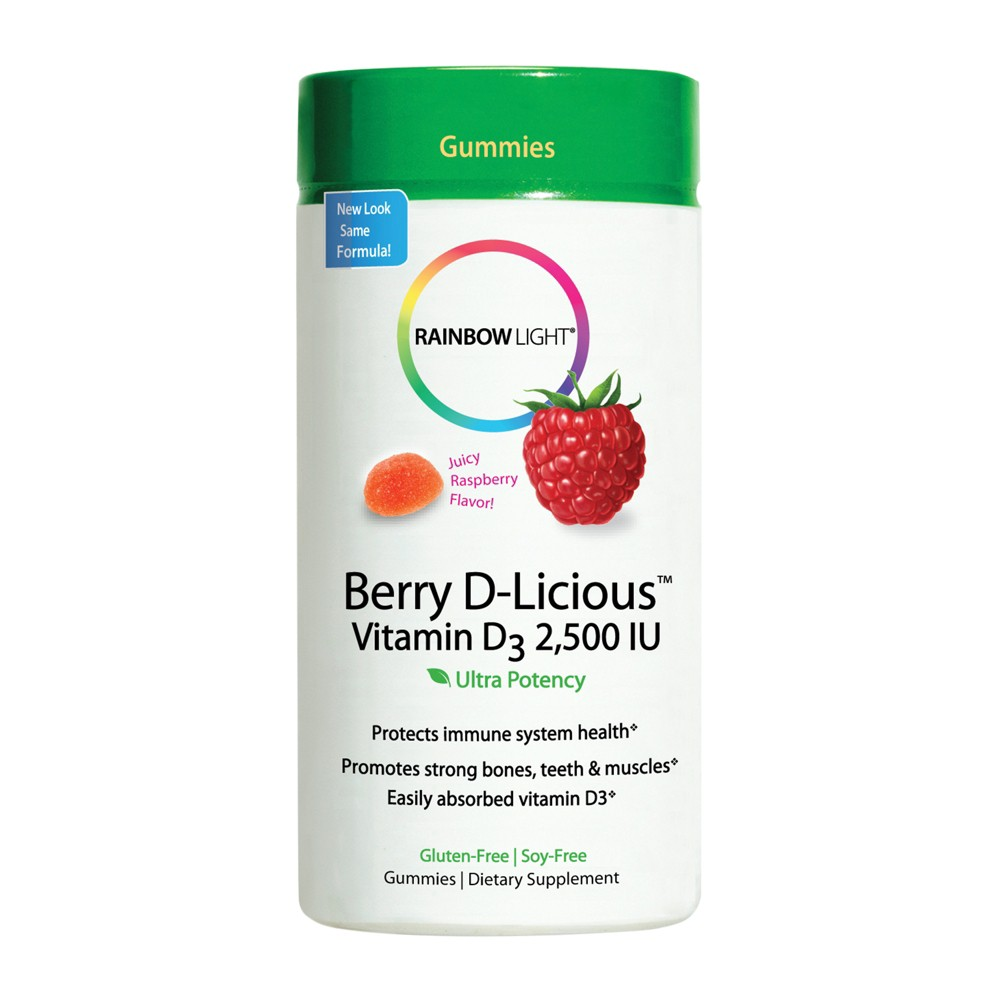 Rainbow Light D-Licious Vitamin D Dietary Supplement Gummies - Berry - 60ct