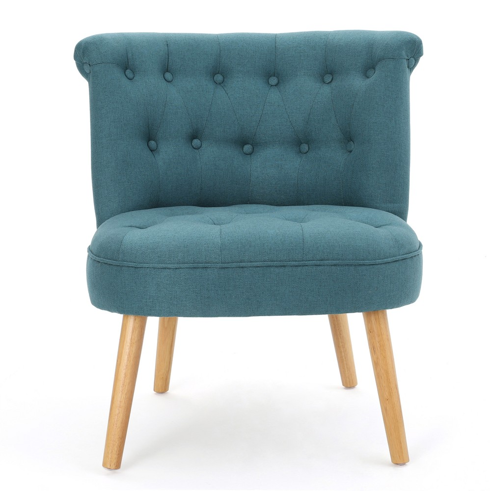 Cicely Tufted Accent Chair - Dark Teal - Christopher Knight Home