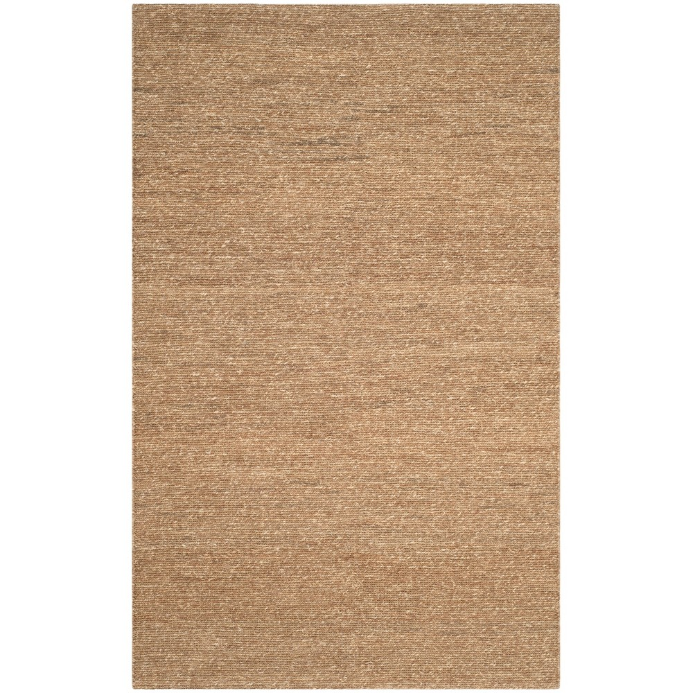 5'X8' Woven Solid Area Rug Natural - Safavieh, White