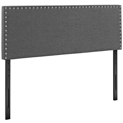 Phoebe King Upholstered Fabric Headboard Gray - Modway