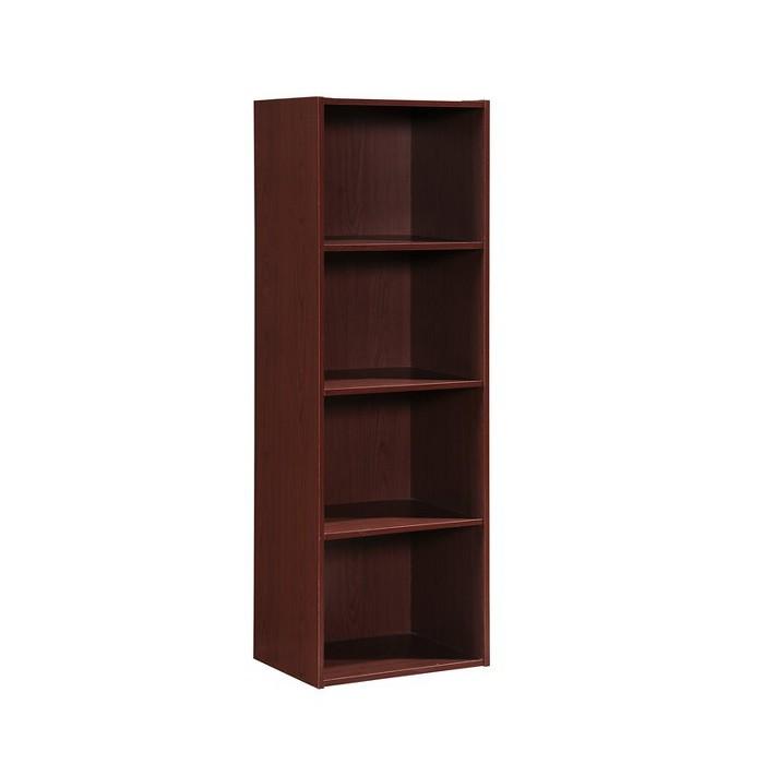4 Shelf Bookcase in Mahogany - Hodedah - image 1 of 3