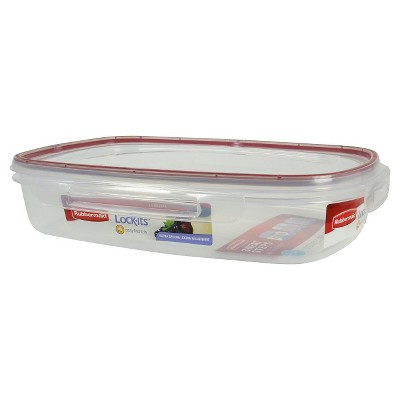 Rubbermaid Lock-its Food Storage Container, Rectangle, 1.5 Gal