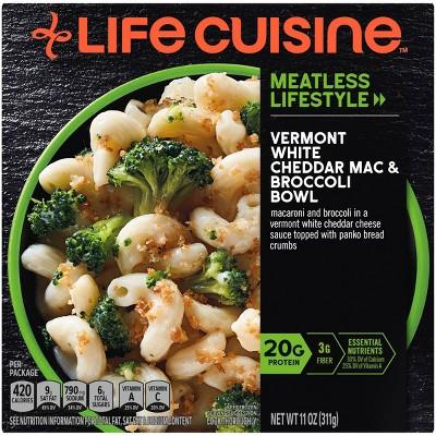 Life Cuisine Frozen Vermont White Cheddar Mac & Broccoli Bowl - 11oz