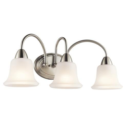 Wide 3 Bulb Bathroom Lighting Fixture