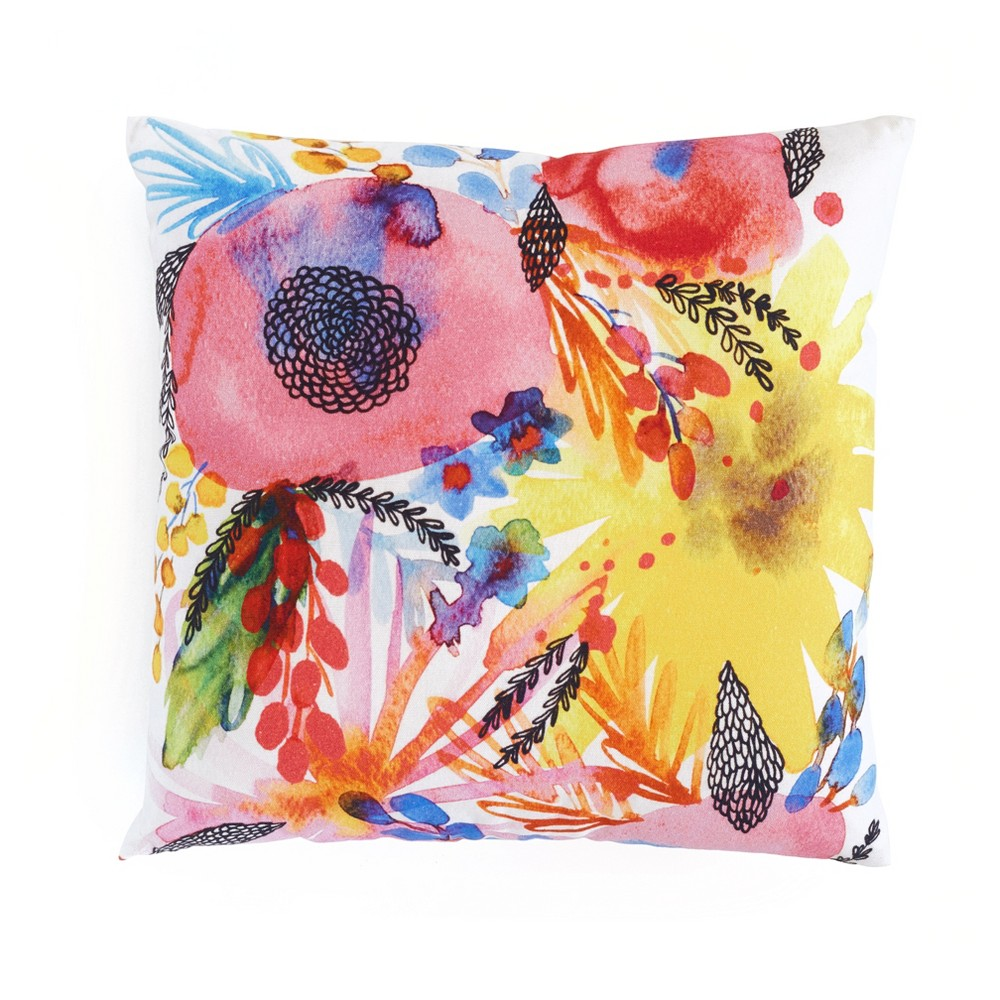 """Image of """"Throw Pillows Flowers 18"""""""" x 18"""""""" - Minted, Multi-Colored"""""""