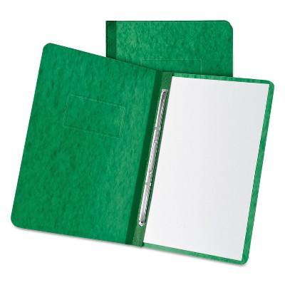 "Oxford Pressboard Report Cover 2 Prong Fastner Letter 3"" Capacity Dark Green 12917"