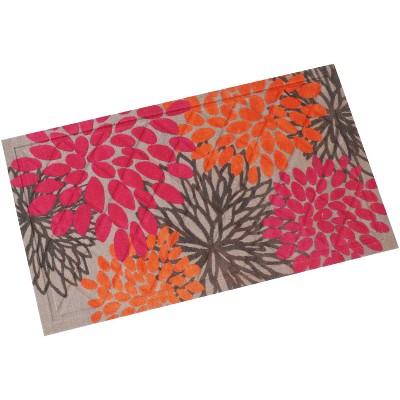 "1'5""x2'5"" Rectangle Floral Accent Rug Pink - Sunnydaze Decor"