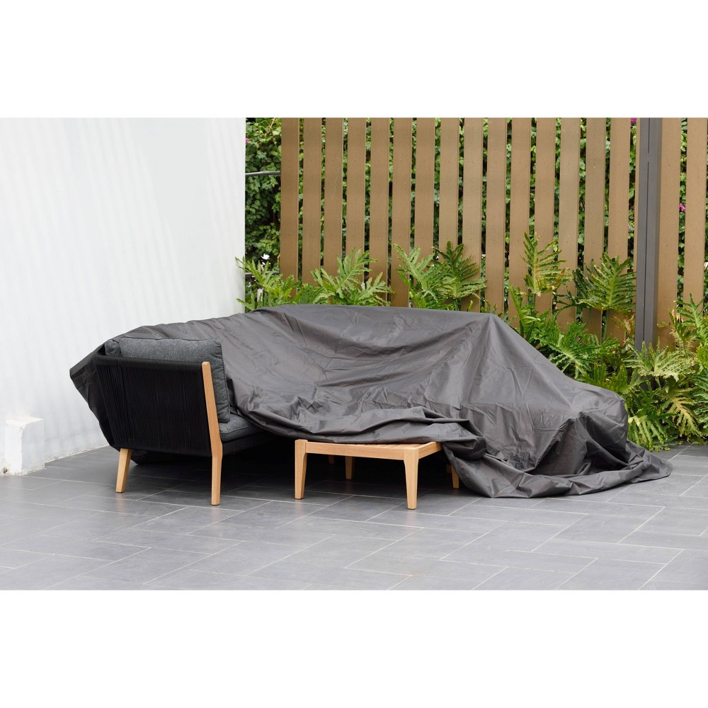 Image of Patio Cover for Dining Set Square and Waterproof - Black - Amazonia