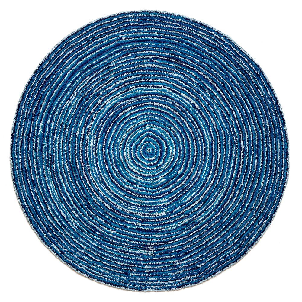 Anji Mountain Round Ripple Blue Skies Rug (8'x8')