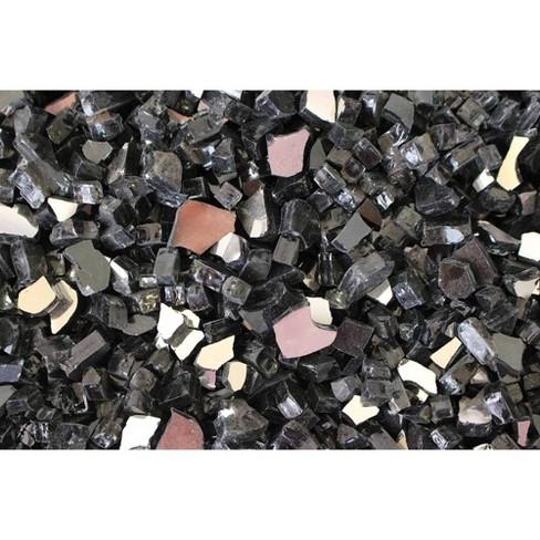 Fire Pit Fire Glass - Black - AZ Patio Heaters - image 1 of 3