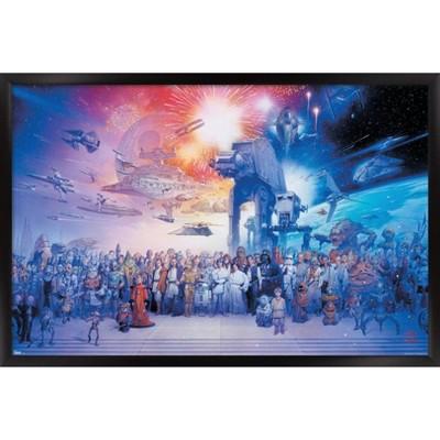 Star Wars - Galaxy Framed Poster Trends International
