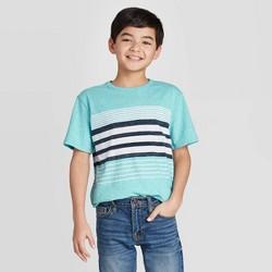 Boys' Short Sleeve Striped T-Shirt - Cat & Jack™ Blue