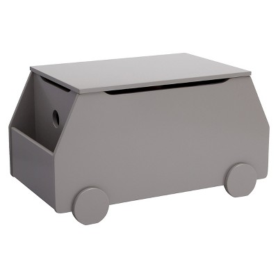 Delta Children Metro Toy Box - Classic Gray