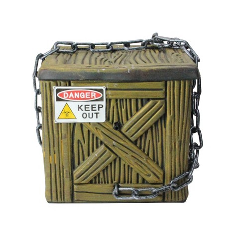 """Northlight 6"""" Geometric Square Chained Shaking Box Halloween Accent Decoration - Black/Brown - image 1 of 3"""