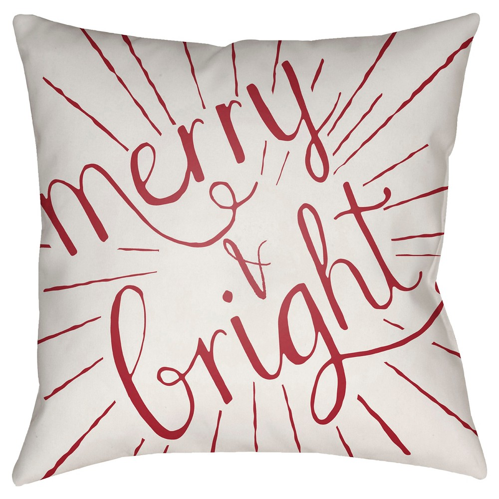 Red Merry & Bright Throw Pillow 18